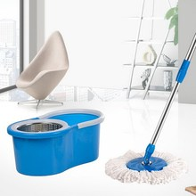 2015 household product best-selling stainless steel pipe spin mop