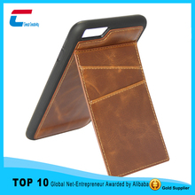 Double card slot PU leather wallet cell phone case for iphone 6 ,supporter for iphone 6 wallet phone case