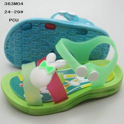 Comfortable cartoon rabbit fruit green PCU girls sandals