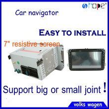 "Car GPS DVD player customized nevigation system Manufacture for VW autos with Bluetooth,7"" resistive screen whole s"