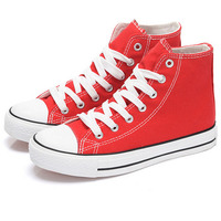 Colorful High Top Women Canvas Shoes Vulcanized Shoes Female Lace up Sneakers
