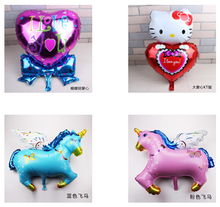 flying horse shape helium foil balloons for party decoration