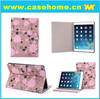 2015 hottest PU flip leather case for ipad air with silk printing craft