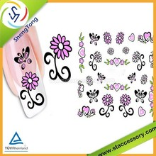 wholesale water transfer nail art stickers for toe nail stickers