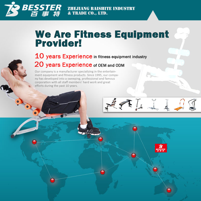 Melhor JS-060SA SIX PACK multifuncional de equipamentos de fitness twister abdominal cadeira de massagem muscular rolo vara