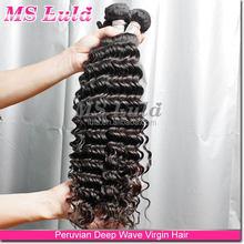 full cuticled cheap human hair bundles customized indian remy wet n wavy