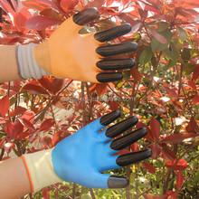 Women Garden Work nitrile double Coated Nylon gloves