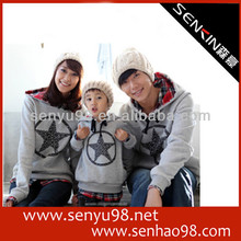 New winter long sleeved hoodie family fitted