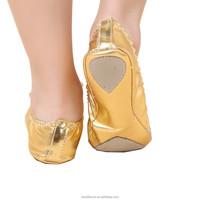 Bestdance bellydance foldable flats shoes ballet dance flats shoes foldable soft heel shoes OEM
