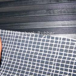 Rubber sheet flooring mat American ribbed