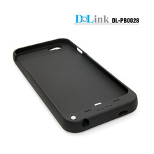 Slim Rechargeable Case with 4 LED Lights, Built-in Pop-out Kickstand Holder, 3200 mAh External Battery Backup for iPhone