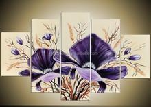 handmade heavy texture gray abstract flower oil painting,Glossy Flower Oil Painting Pictures Canvas Art Print