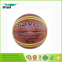 Custom official size promotional rubber toys basketballs