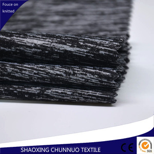 Chunnuo Textile Polyester Spandex Cationique Stretch Tricoté Tissu Tube