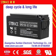 12v lead acid battery,12v 150ah deep cycle solar battery(SRD150-12)