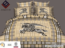 2015 new 3D design famous brand reative printed bedding set 4 pieces set