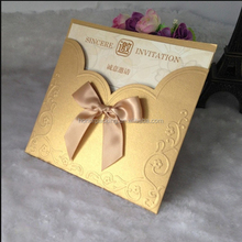 European style good quality luxury invitation greeting card/embossing greeting card wholesale