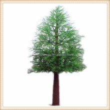 Cold pine tree in artificial tree outdoor artificial pine tree old bark