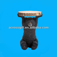 fancy polyresin bear coffee table