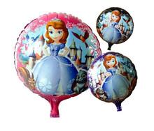 hot sell children gift helium foil mylar cartoon balloon,18 inches round balloon,Princess Sophia aluminium film ballon