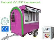 Jancole JC-1175C mobile food cart cart for Italian icecream