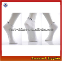 White Color Bamboo Charcoal Low-Cut Ankle Deodorant Socks