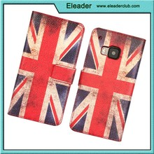For htc one m9 uk and america flag leather case