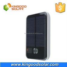 Black White Plastic case dual USB with real built-in battey portable 5000mah solar power bank for mobile phone