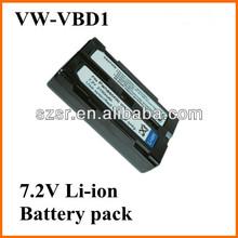For Panasonic digital camcorder li-ion battery pack 7.2V VW-BD1