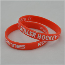 Customized Logo Silicone Bracelets for Hockey Gift