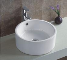 9013 hand round art ceramic washbasin hair