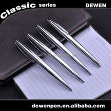 Top Quality Aluminum Barrel logo Engraved Smooth Line Ballpoint Pen