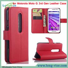 for Motorola Moto G 3rd Gen Leather Case