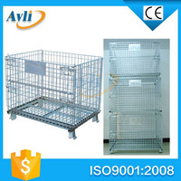 folding wire mesh used storage container for sale