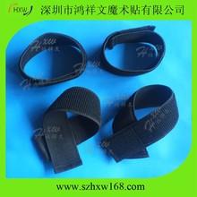 Reusable Fastening Wrap Black Elastic hook loop Blousing Garters