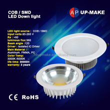 CE ROHS 12w Lumileds led downlight ceiling spotlight