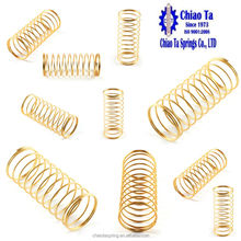 Gold small compression spring