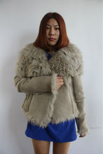 Double Face Mongolian Fur And Leather Garment/Noble/Big Yard