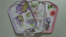 new artistic design melamine plastic tray food tray disposable