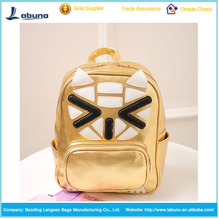 2015 fashion leisure joining together the cat head pu backpack