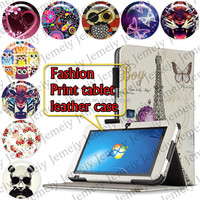 "For Acer Iconia Tab W500 10.1"" Tablets Printing Folding PU Leather Case Media Stand Folio Case Cover"