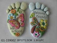 Garden cement foot shape stepping stone