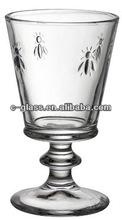 Pressed Bee Wine Glass