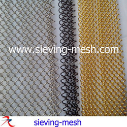 China decorative metal partition screens, aluminum coil wire drapery
