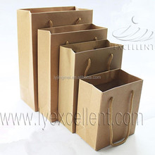 various sizes brown kraft hand paper bag