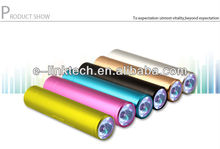 2012 hot selling portable mobile Power Bank Aluminum alloy 2600mAh Column