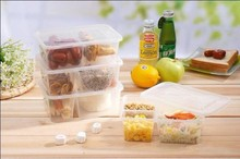Disposable Stackable Bento plastic food container 750ml