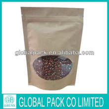 Custom 500g Kraft Paper bag with Window for seed Packaging/Chinese Manufacturer