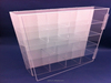 great design clear large floor standing acrylic food display case for retail shop wholesale
