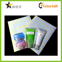 2015 Best selling products blank note sticker packing in sheet for cosmetic bottle